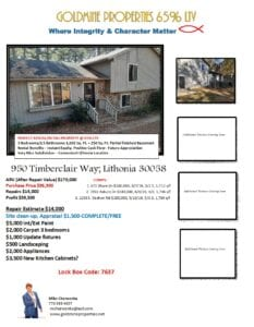 950 Timberclair Way Flyer